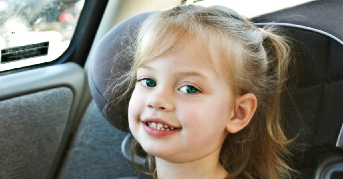 I notice too many children sitting in the front seat, or in the rear of the car with no booster. Children under 8th should sit on booster seat for safety
