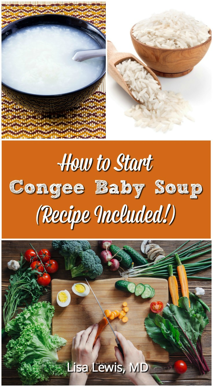 Many parts of Asia make a variation of a rice soup. In China it is called congee. Vegetables can be added, and it can be made into a thicker baby soup.
