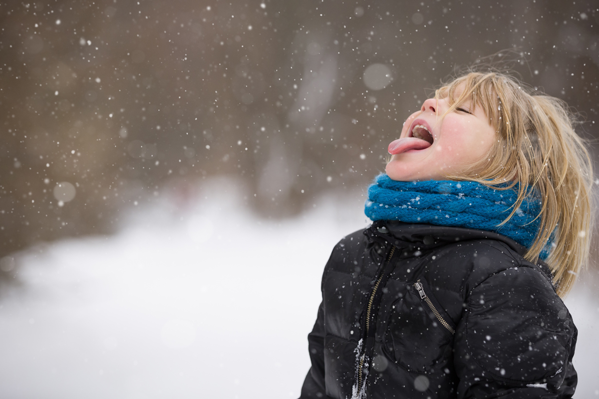Catching Snow Flakes with Tongue